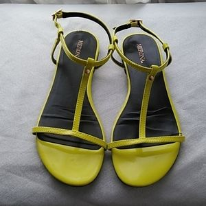 Merona Strappy  Sandals Yellow/Lime Neon Size 7